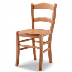 Sedia RB in faggio con sedile paglia/massello
