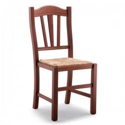 Sedia SILVANA in legno con sedile paglia/massello