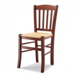 Sedia VENETA in legno con sedile paglia/massello/imbottito