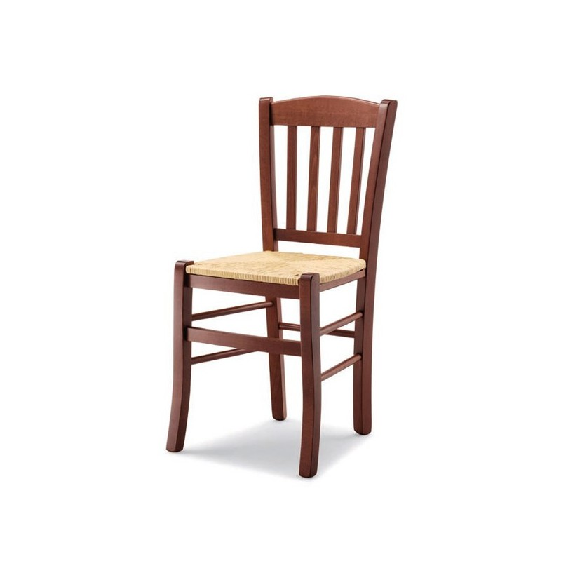 Sedia veneta in legno con sedile paglia massello imbottito for Sedie in legno massello prezzi