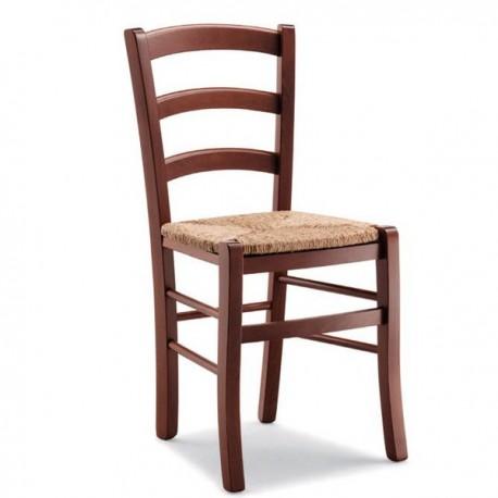 Sedia VENEZIA in legno con sedile in paglia