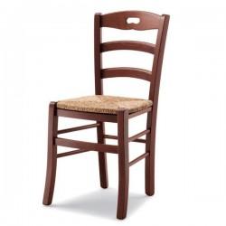 Sedia ROCHELLE in legno con sedile paglia/massello