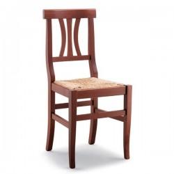 Sedia ARTE POVERA in legno con sedile paglia/massello/imbottito