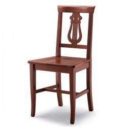 Sedia LIRA in legno con sedile paglia/massello/imbottito