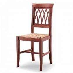 Sedia TRECCIA in legno con sedile paglia/massello/imbottito