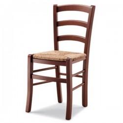 Sedia MEZZANA H 71 in legno con sedile paglia