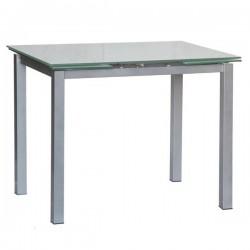 Tavolo allungabile con piano in vetro 120x80 - LIBECCIO 80