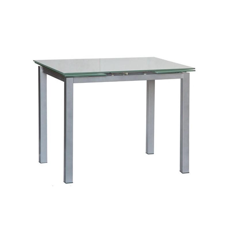 tavolo allungabile con piano in vetro 120x80 libeccio 80