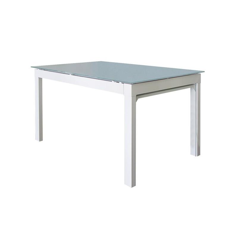tavolo allungabile con gambe a scomparsa bianco maestrale