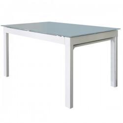 Tavolo allungabile con gambe a sezione triangolare bianco - MAESTRALE