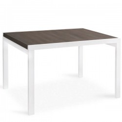 Tavolo quadrato allungabile a libro in legno - PONENTE 90x90