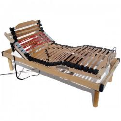 Rete con alzapersona elettrica in legno ortopedica con ammortizzatori a doghe MATRIMONIALE