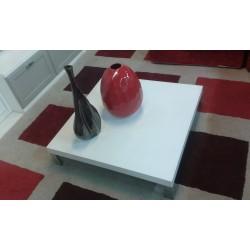 Tavolino basso Bianco frassinato 85x85